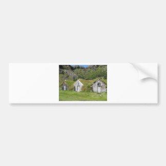 Häuser mit Grasdach Autoaufkleber