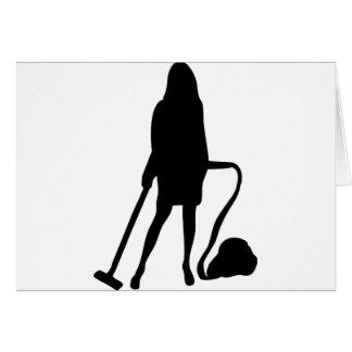 Hausfrau - Staubsauger - Reinigung Karte