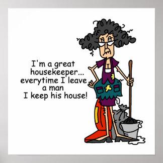Haushälterin-Spaß Plakat