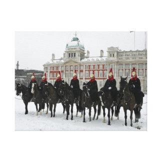 Haushalts-Kavallerie im Schnee, Leinwanddruck