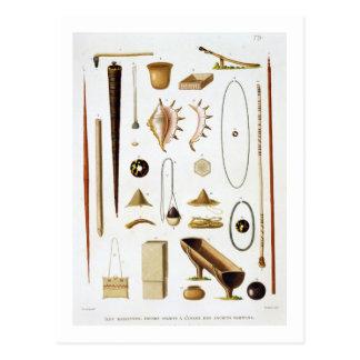 Haushaltsgeräte und -waffen vom Mariannas Postkarte