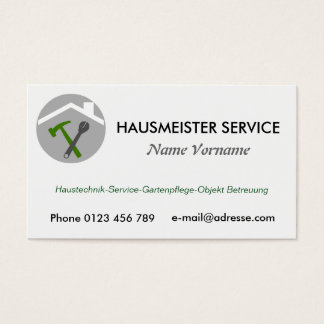 hausmeisterservice visitenkarte