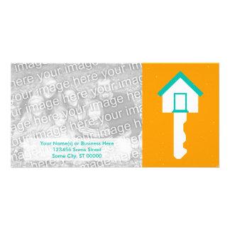 Hausschlüssel Foto Karten Vorlage