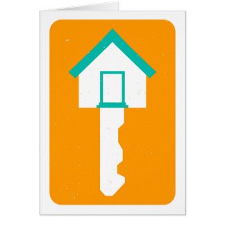 Hausschlüssel Grußkarte