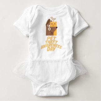 Haustier-Diebstahl-Bewusstseins-Tag - 14. Februar Baby Strampler