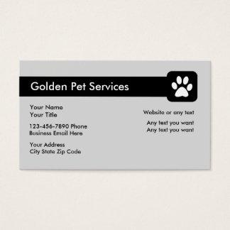 Haustier-Dienstleistungsunternehmen-Karte Visitenkarten