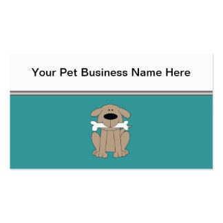 Haustier-Dienstleistungsunternehmen-Karten Visitenkarten Vorlagen