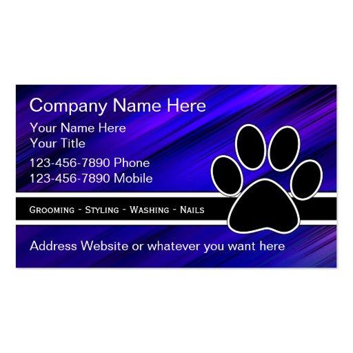 Haustier-Dienstleistungsunternehmen-Karten Visitenkartenvorlagen