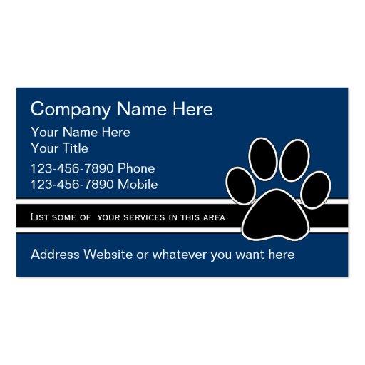 Haustier-Dienstleistungsunternehmen-Karten Visitenkarte