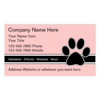 Haustier-Dienstleistungsunternehmen-Karten Visitenkarten Vorlage