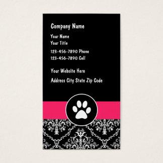 Haustier-Dienstleistungsunternehmen-Karten Visitenkarten