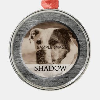 Haustier-ErinnerungsFoto   zum Gedenken an Tribut Silbernes Ornament
