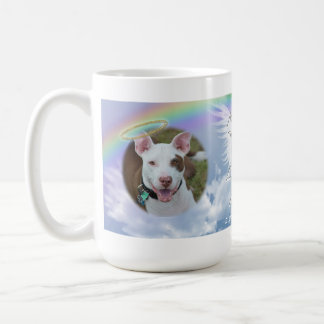Pet Photo Memorial Rainbow Angel Wings and Halo