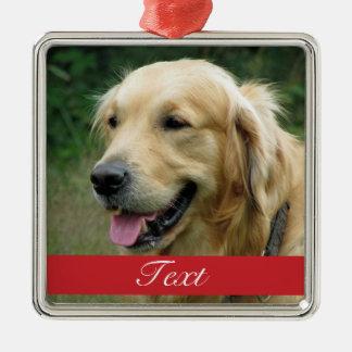 Haustier-Foto kundengerecht Silbernes Ornament