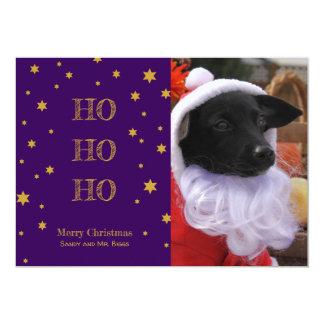 Haustier-Foto-Weihnachtskarte personalisiert Ihr Karte