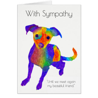 Haustier-HundeBeileids-Karte Mitteilungskarte