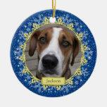 Haustier-HundeerinnerungsFoto-Weihnachtsverzierung
