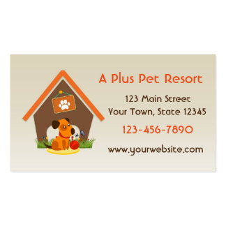 Haustier-Hundehütte oder Visitenkarten