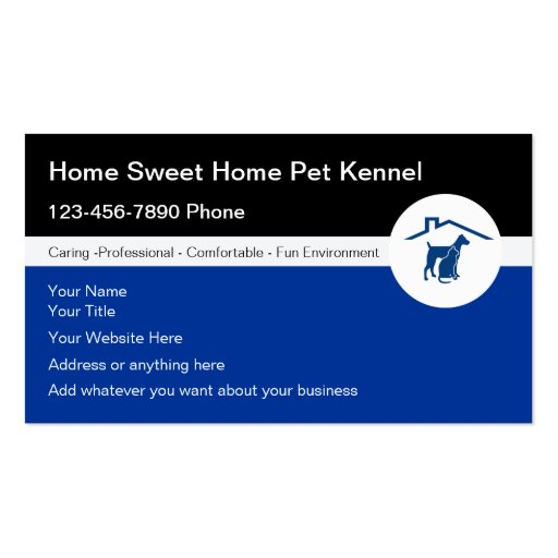 Haustier-Hundehütten-Visitenkarten