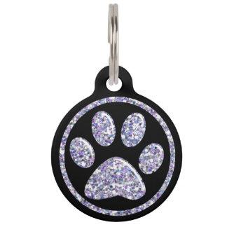 Haustier Identifikations-Umbau - lt Purple Bling Tiermarke Mit Namen