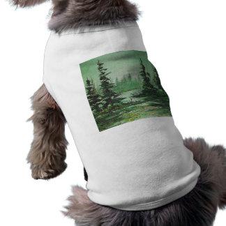 Haustier-Kleidung Ann Hayes, das grünen Wald malt T-Shirt
