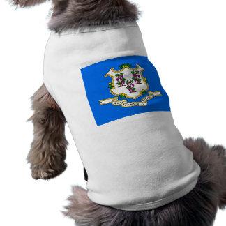 Haustier-Kleidung mit Flagge von Connecticut, USA Shirt