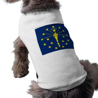 Haustier-Kleidung mit Flagge von Indiana, USA T-Shirt