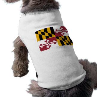 Haustier-Kleidung mit Flagge von Maryland, USA Shirt