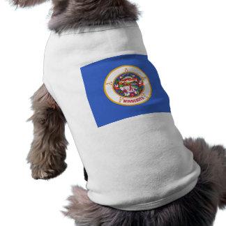 Haustier-Kleidung mit Flagge von Minnesota, USA Shirt