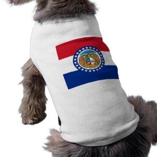 Haustier-Kleidung mit Flagge von Missouri, USA Top