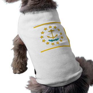 Haustier-Kleidung mit Flagge von Rhode Island, USA T-Shirt