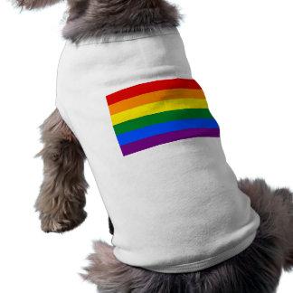 Haustier-Kleidung mit LGBT Regenbogen-Flagge Ärmelfreies Hunde-Shirt