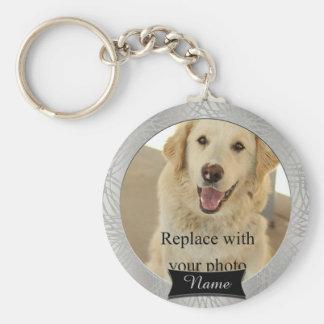Haustier-kundenspezifisches ErinnerungsFoto Schlüsselanhänger