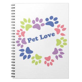 Haustier-Liebe Notizblock