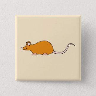 Haustier-Maus. Zimt-Farbe Quadratischer Button 5,1 Cm