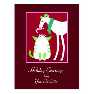 Haustier-Modell-Feiertags-Postkarte Postkarte