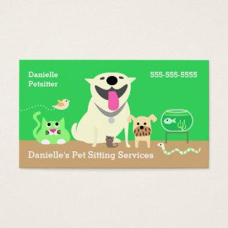 Haustier-Modell-Geschäft Karte-grün Visitenkarte