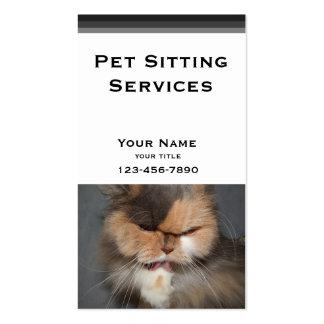 Haustier-Modell - persische Katze Visitenkarten