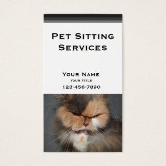 Haustier-Modell - persische Katze Visitenkarte