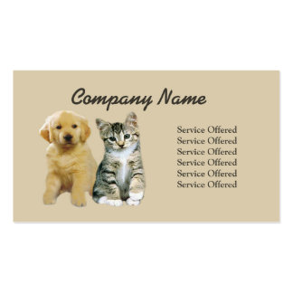 Haustier-Produkt-u. Service-Visitenkarte