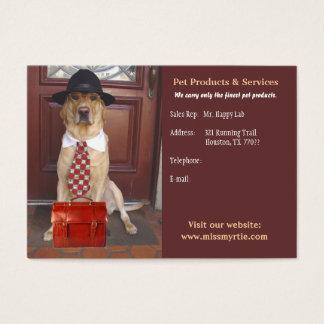 Haustier-Produkte u. Dienstleistungen Visitenkarte