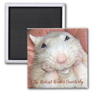 Haustier-Ratte Bridget Magnet Quadratischer Magnet