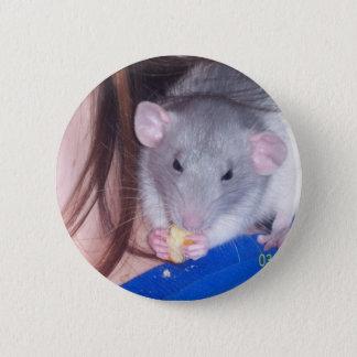 Haustier-Ratte Pinback Knopf Runder Button 5,7 Cm