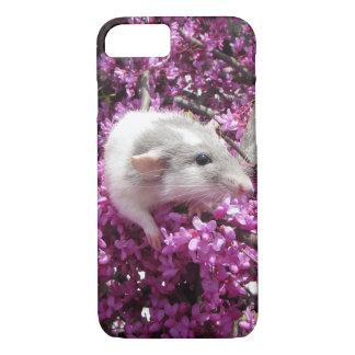 Haustier-Ratte Rahab in den Blüten iPhone 7 Hülle