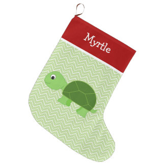Haustier-Schildkröte personalisiert Großer Weihnachtsstrumpf