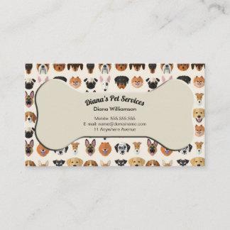 Haustier-Sitzen, Pflegen und Service-Visitenkarte Visitenkarte