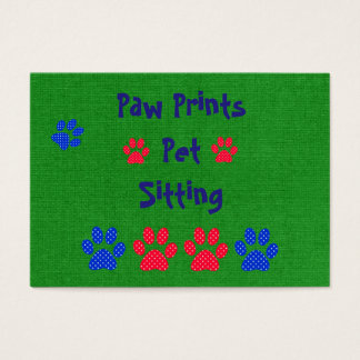 Haustier-sitzende Haustierpflege-themenorientierte Visitenkarte