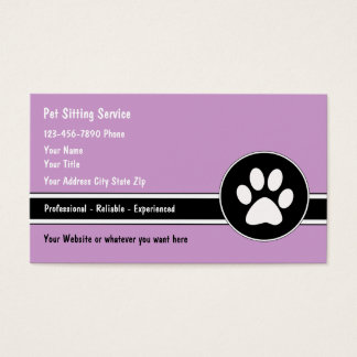 Haustier-sitzende Visitenkarten