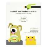 Haustier-sitzendes Geschäft Individuelle Flyer