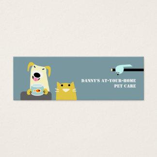 Haustier-Sorgfalt beruflich Mini Visitenkarte